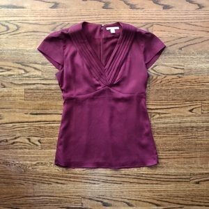 Silky Banana Republic Fitted cap sleeve blouse